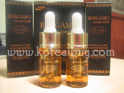 (พร้อมส่ง) Bergamo luxury gold wrinkle care intense repair ampoule set 13 ml. x 2ea